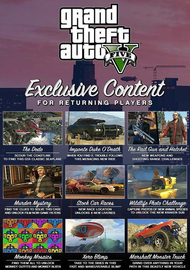 Скрипн GTA 5 / Grand Theft Auto V - Redux [v.1.0.678.1 + DLC] (2015)